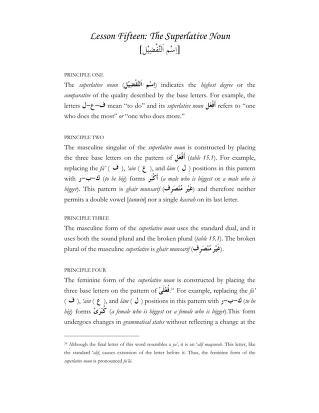 Download 15 the superlative noun pdf pdf book