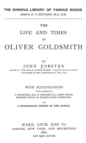 Download The life and times of Oliver Goldsmith