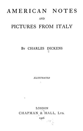 Download American notes and Pictures from Italy