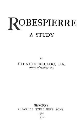 Download Robespierre