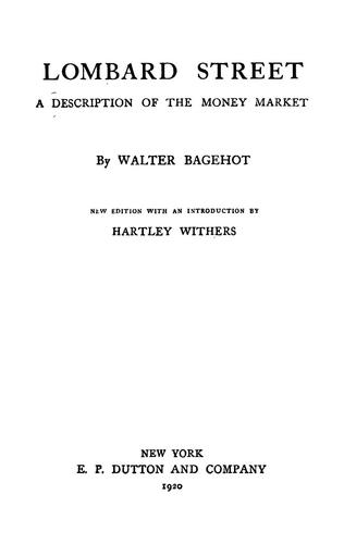 Download Lombard street, a description of the money market