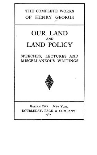 Download Our land and land policy