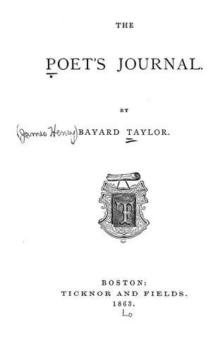 Download The poet's journal