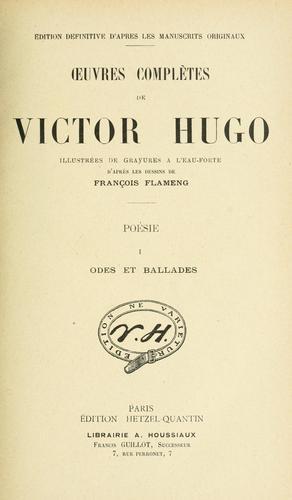 uvres complètes de Victor Hugo