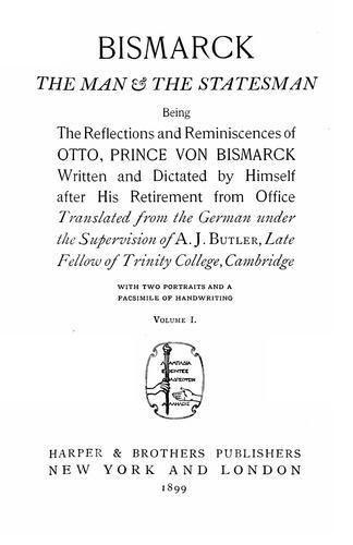 Download Bismarck, the man & the statesman