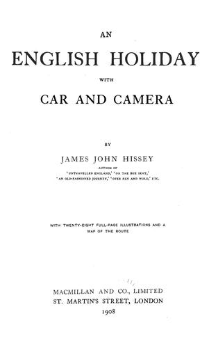 Download An English holiday with car and camera