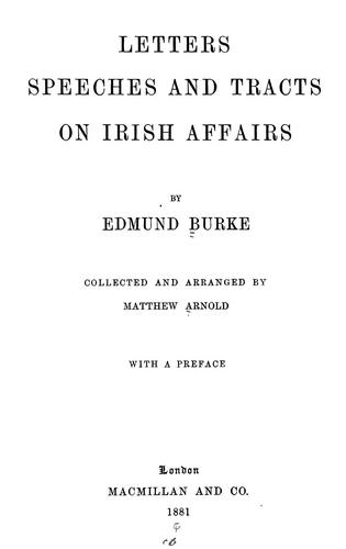 Download Letters, speeches and tracts on Irish affairs