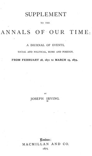 Download Supplement to The annals of our time
