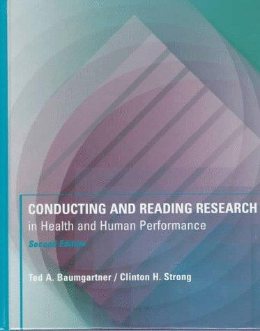 Download Conducting and reading research in health and human performance