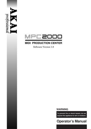 MPC 2000 owner's manual.PDF : Free Download, Borrow, and Streaming ...