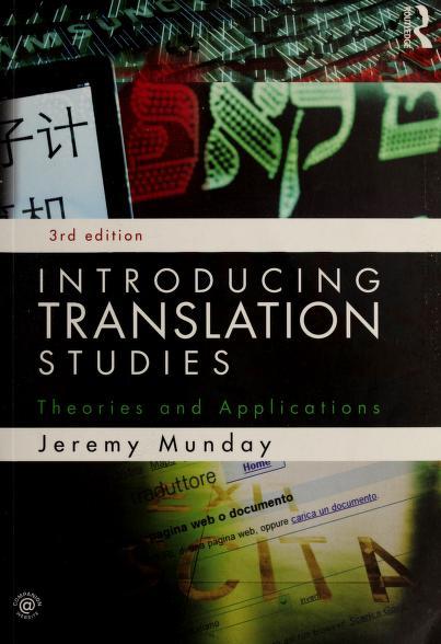 Introducing translation studies by Jeremy Munday