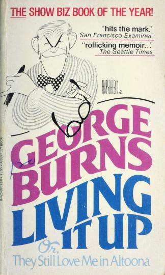 Cover of: Living It Up | George Burns