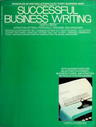 Cover of: Successful business writing | Lassor A. Blumenthal