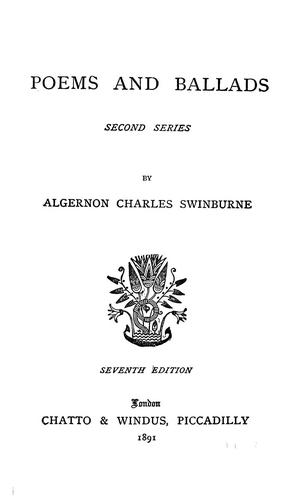 Poems and ballads by Algernon Charles Swinburne