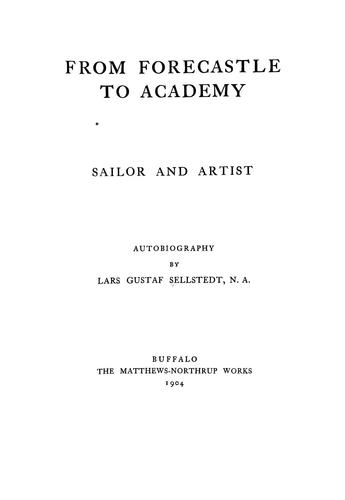 From forecastle to Academy, sailor and artist by