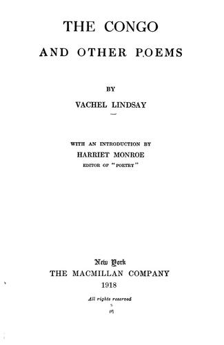 The Congo by Vachel Lindsay