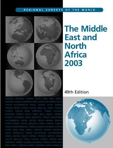 The Middle East and North Africa 2003 (Middle East and North Africa) by Eur